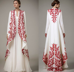 Wholesale 2016 muslim evening dresses beading embroidery dubai arabic kaftan abayas Islamic clothing evening gowns Vestido de Festa Longo