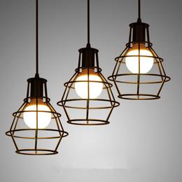 Discount Industrial Cage Pendant Lights  2017 Industrial Metal