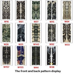 Wholesale 2016 New high quality popupar street style Tattoo Sleeve Cool Rock cycling Arm Warmers fingerless multichoice unisex hand wear