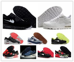 2016 Shoes Run Air Max 2016 New Top Quality Men AIR 90 VT Hyperfuse Essential Running Shoes Men Walking Shoes White Black Sport Sneakers Max Size 40-45 Shoes Run Air Max for sale