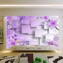 Purple Flower Wallpaper For Bedroom