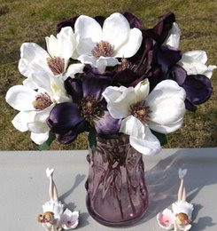 Online Shopping Beautiful Silk Artificial Flowers White Magnolia Europe Us Style Home Deco Decorative Flowers Bouquet