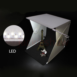Mini Photo Studio Folding Detachable Portable LED Light Room Photography Studio box With 2pcs Background Wholesale from light box studios suppliers
