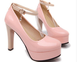Discount Thick Heels Nude Shoe | 2017 Thick Heels Nude Shoe on ...