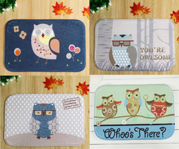 40*60cm Owl Series Bath Mats Anti Slip Rugs Coral Fleece Carpet For For  Bathroom Bedroom Doormat Online