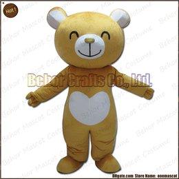 Wholesale Le costume adorable de mascotte d ours libèrent l expédition adulte bon marché de bande dessinée de mascotte d ours brun de peluche de haute qualité acceptent l ordre d OEM