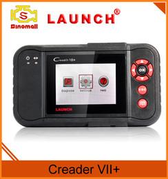 Técnico original del lanzamiento Creader VII + 7+ OBD II lector de código Herramienta de la exploración diagnósticos autos Conveniente para el estándar de OBDII después de 1996