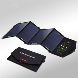 2017 tablet pc uk charger ALLPOWERS 18W 5V Dual USB Quick Charger Foldable Potable Solar Panel Charger for Mobile Phone Tablet PC