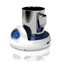 Frete grátis USB Tea Coffee Cup caneca mantenha Warmer Heater Pad com 4 USB Hub Porta com tempo e coaster temperatura display (LCD)