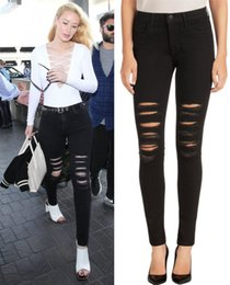 Ripped skinny jeans womens black – Global fashion jeans collection