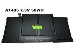 Оптовая 100% Новые Подлинная A1405 Происхождение батареи для MacBook Air 13