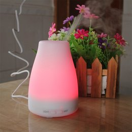 30pcs 2016 best 100ml led light 7 color change dry protect ultrasonic essential oil aroma diffuser air humidifier mist maker for home office best light for office