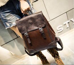 Korean Style Vintage Leather Backpacks Online | Korean Style ...