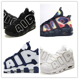 online shopping Air More UpTempo Retro Black White Rainbow Olympic Scottie Pippen Trainers Shoes Big Air Good Quality Sneakers Size