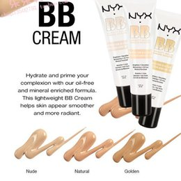 Wholesale 2016 NYX BB Cream beauty balm baume beaute brightens smoothes moisturizes oil free Mineral Enriched ml with retail box
