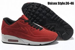 Discount Shoes Run Air Max 2015 New Top Quality Men AIR 90 VT Hyperfuse Essential Running Shoes Men Walking Shoes White Black Sport Sneakers Max Size 36-45