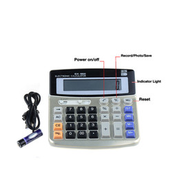 build in 8gb real office business calculator hidden spy pinhole camera dvr video recorder dv free shipping build office video
