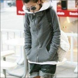 Glod Mãos Venda De Liquidação Novas Outono E Inverno Roupas Grossas Veludo Hoodies Sweatshirt Mulher Casaco Plus Size Jacket Slim Senhoras Casacos