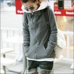 Glod Mains Liquidation Soldes Nouvelle Automne et Hiver Vêtements Thick Velvet Hoodies Sweatshirt Manteau Femme Plus Veste Taille Slim Manteaux Femmes