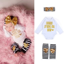Wholesale Baby Unisex Romper Set Infant Girl Boy Spring Autumn Long Sleeve Outfits with Headband Clothing Set