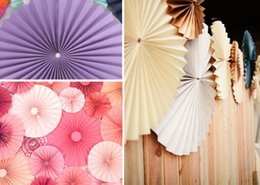 Wholesale 2016 Wedding Flowers High Quality Beautyful Paper Fans CM Flowers Colorful Fans for Christmas Wedding Party Birthday Decoration Supplies