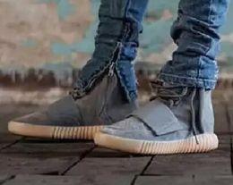 Trasporto libero 2015 brandnew Scarpe uomo Kanye West Yeezy 750 Boost Stivali Atletico Stivaletti scarpe da basket con la scatola di scarpe sportive di avvio