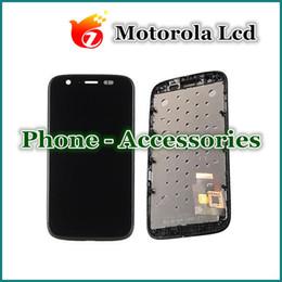 Meilleur qualité pour Motorola G XT1032 XT1033 Lcd écran tactile avec digitizer assemblage complet avec cadre noir DHL Livraison gratuite