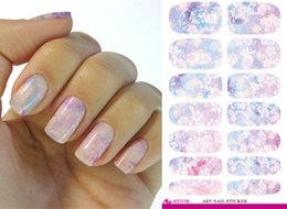 online shopping Wedding Bridal Makeup Water Transfer Nail Art Stickers Waterproof styling Jewelry Nail Wraps Decals adhesive foil F21044