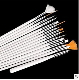 Wholesale 500 sets Set Nail Brushes Nail Art Design acrylic brush UV Gel Set Painting Draw Dotting Pen white Hand