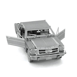wholesale 1965 ford mustang 3d metal puzzles for adult diy car puzzle educational kids toys brinquedos jigsaw puzzle for children
