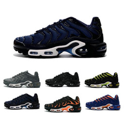 Discount shoes run air max 2016 TN Mens Running Shoes Max Plus TN Shoes Men Air Maxes TN Runs Shoes Lace Sneakers Size 39-44