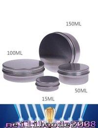 15ml Maquiagem Alumínio Jar Tin Pot Nail Art Lip Gloss vazio recipiente cosmético rosca Maquiagem MYY frete grátis