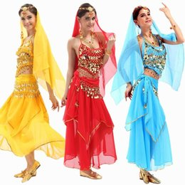 Wholesale 2016 New Set Belly Dance Costume Bollywood Costume Indian Dress Bellydance Dress Womens Belly Dancing Costume Sets Tribal