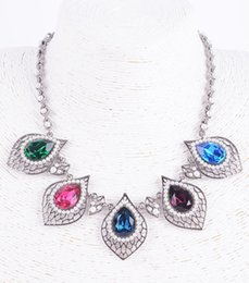 Wholesale New Arrival fashion pearl heart Boho Style multi crystal Statement Choker Necklace dress and party jewelry