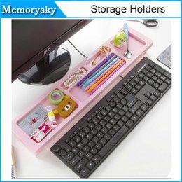 creativa del teclado del ordenador de sobremesa Bastidores de almacenamiento Plataforma Plataforma anti del polvo Cubierta de espacio de la provincia de múltiples funciones del teclado 010265