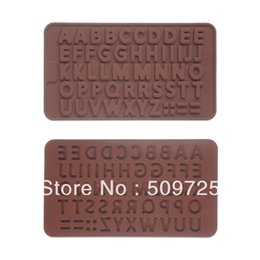 2017 alphabet letter molds new silicone cholocate baking molds jelly ice mould letters of alphabet shape
