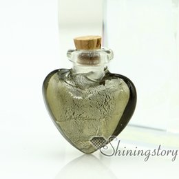 Wholesale handmade murano glass perfume bottle for necklace small urn for necklace pendant for ashes remembrance jewelry
