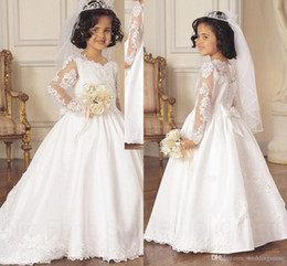 Discount Flower Girl Satin Dresses Covered Buttons | 2017 Flower ...