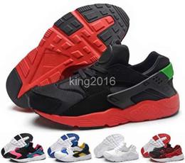2016 Nuevos zapatos de las zapatillas de deporte de Huarache de los niños para los muchachos Grils Auténticos Zapatos de las zapatillas de deporte del deporte de Huaraches de los niños de todos los blancos Tamaño 28-35
