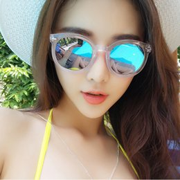 free shipping fashion 12 colors transparent frame sunglasses women summer style vintage sunglasses brand mirror woman gifts uv400 15