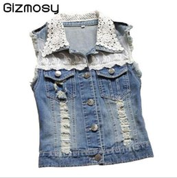 Discount Ladies Short Sleeveless Denim Jackets | 2017 Ladies Short ...