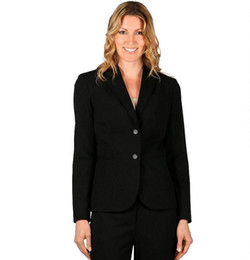 Wholesale Custom women s suits business office uniform dress long sleeved women coat two grain of buckle black prom suit