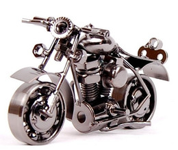 hot sale home decor metal crafts wrought iron motorcycle model creative desktop furnishing articles boy likes gifts - Home Decor Articles