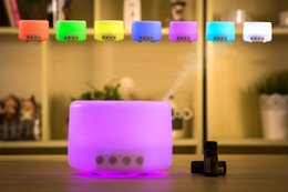 Wholesale 500ml Aromatherapy Essential Oil Diffuser Portable Ultrasonic Cool Mist Aroma Humidifier with Color LED Light Changing Waterless ST S DHL