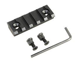2 pouces de rechange 5 Emplacement Picatinny Section ferroviaire Weaver pour KeyMod Handguard Mont rail Sytstem avec les outils en aluminium Airsoft Chasse