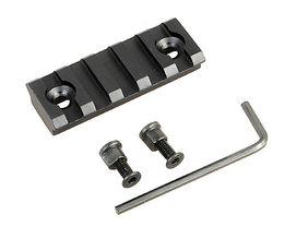 2 pouces de rechange 5 Slot Picatinny Weaver Rail Section pour KeyMod Handguard Mount Rail Sytstem avec outils Aluminium Airsoft Hunting