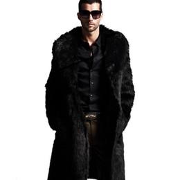Long Black Fur Rabbit Coat Men Online | Long Black Fur Rabbit Coat