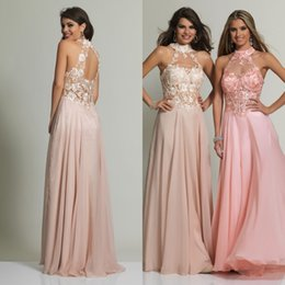 Discount Modest Blush Prom Dresses | 2017 Modest Blush Prom ...