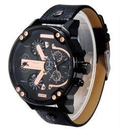discount men s big faced watches 2016 men s big faced gold discount men s big faced watches watches men dz luxury brand leather strap fashion casual watches men