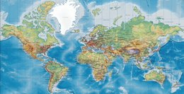 Giant World Map Wallpaper - Large World Map Wall Art- StickyThings ...